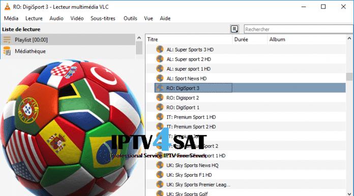Fichier iptv m3u sports liste