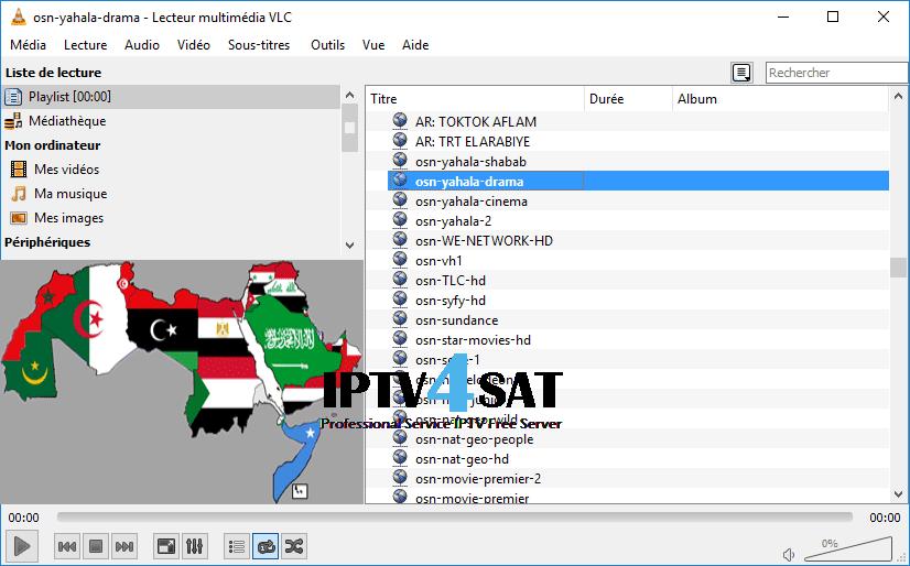 Playlist m3u arabe nilesat iptv