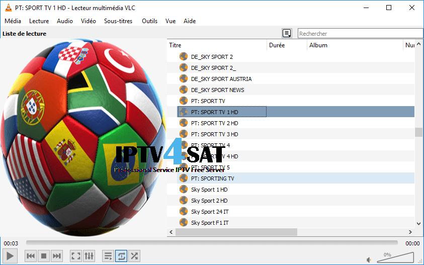 Iptv m3u sports gratuit serveur