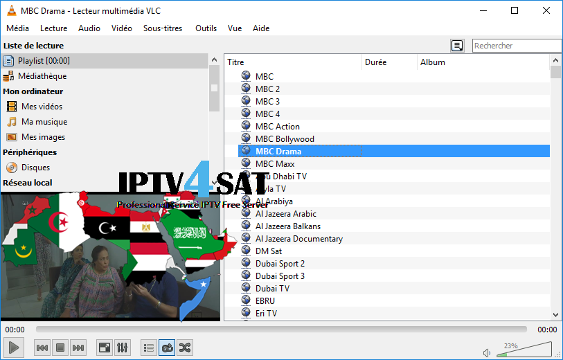 m3u arabe gratuit playlist