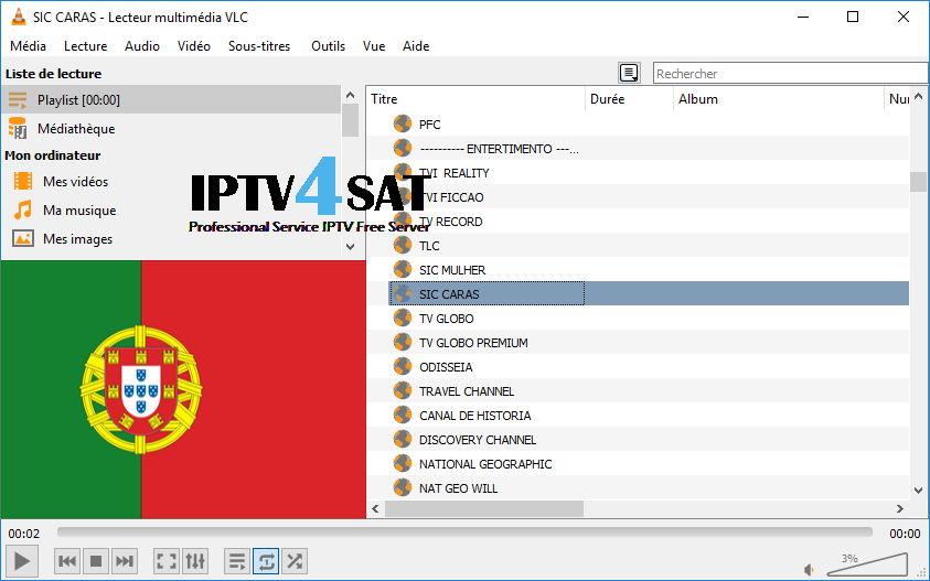 m3u portugal iptv playlist