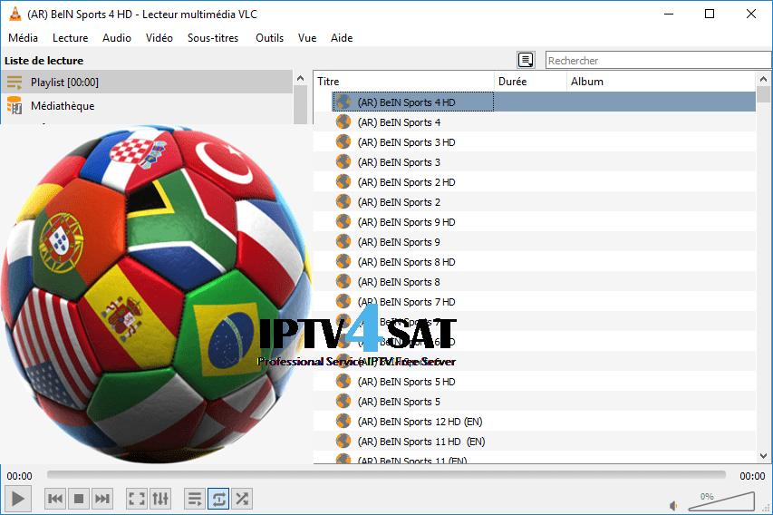 Iptv fichier sports m3u playlist