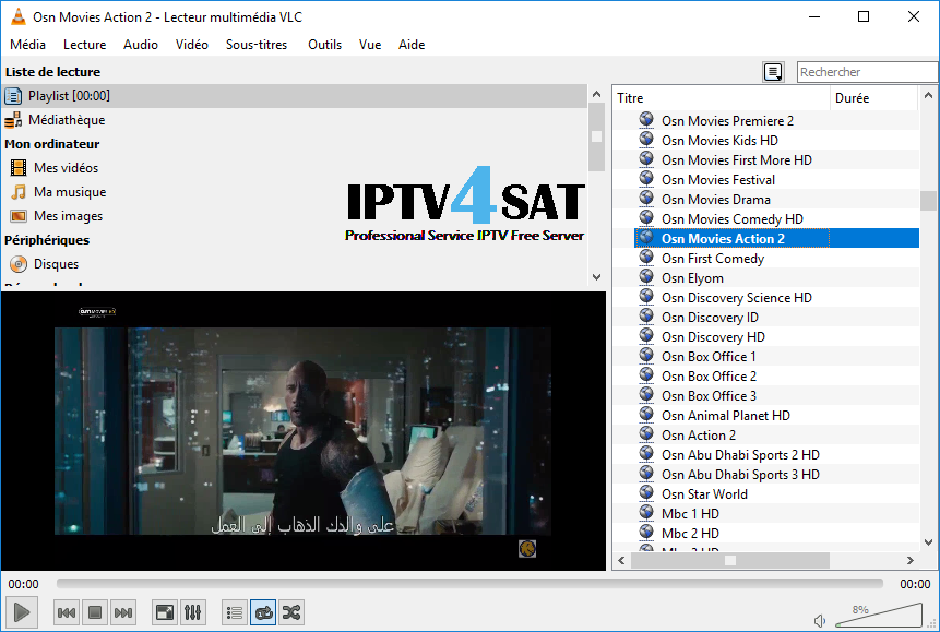 Iptv arabic channels m3u gratuit